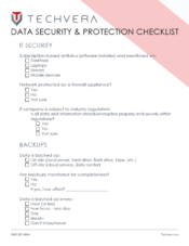 Data Security and Protection Checklist