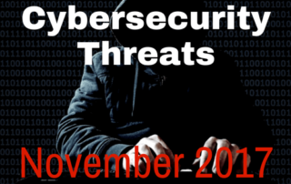 Cybersecurity Threats November 2017