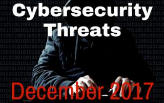Cybersecurity threats blog December